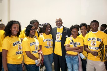High school students at Grambling State University