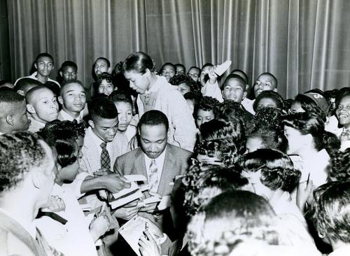Martin Luther King Jr. At Hampton University circa 1957