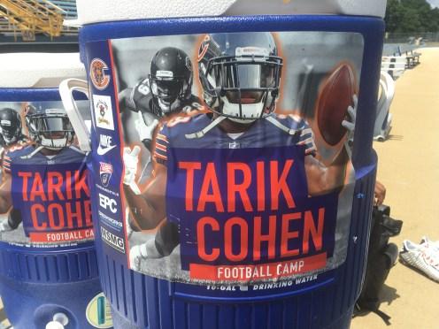 Tarik Cohen first annual football camp