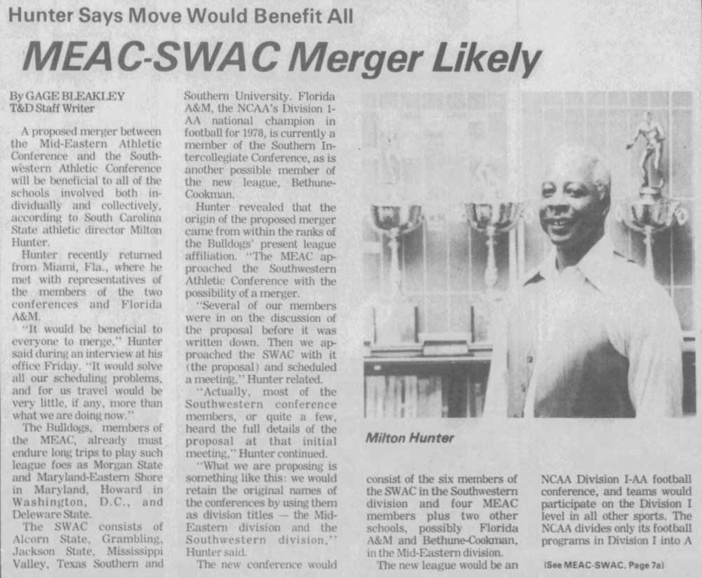 MEAC/SWAC Merger