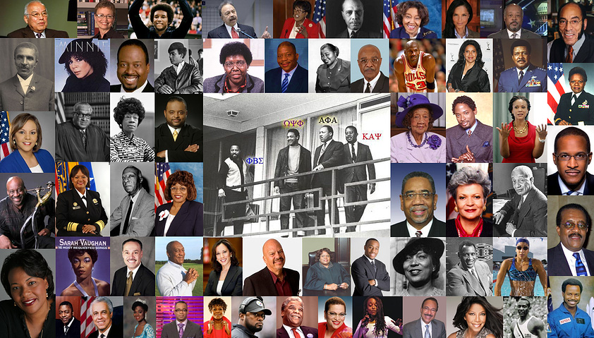 A Collage of Notable Black Greeks on Leadership Diversity in America