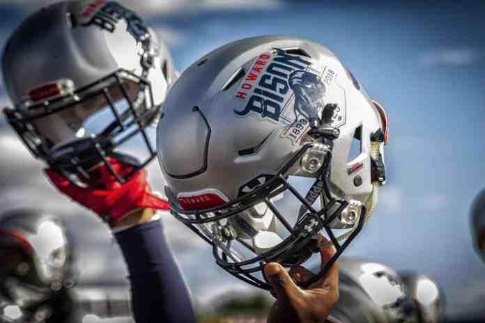 Howard football helmet