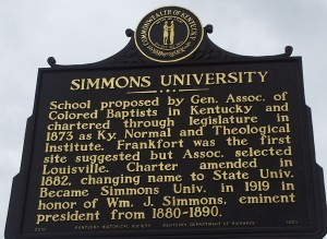History of Simmons University, the predecessor of Simmons College of Kentucky