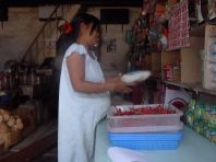 Pregnant and selling chili (North Sumatra, 2004)