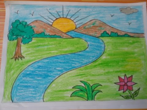 رسومات عن الطبيعة سهلة اسهل طريقة لرسم صور من الطبيعة الحبيب للحبيب