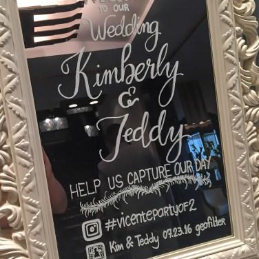 Beautiful handwritten wedding welcome sign