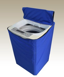blue washing machine cover