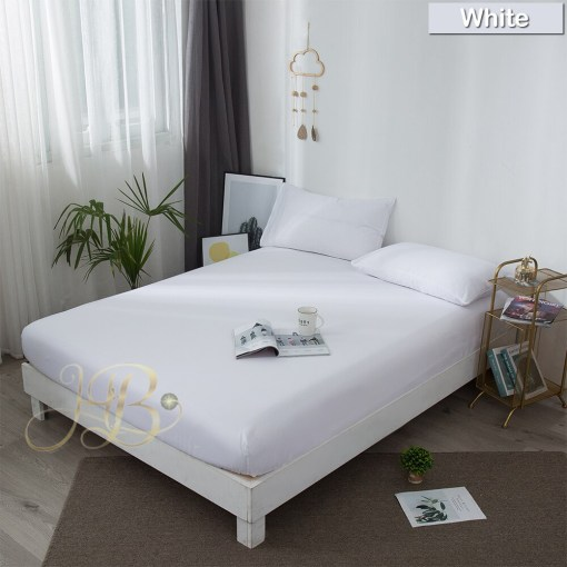 Terry Waterproof Mattress Cover White