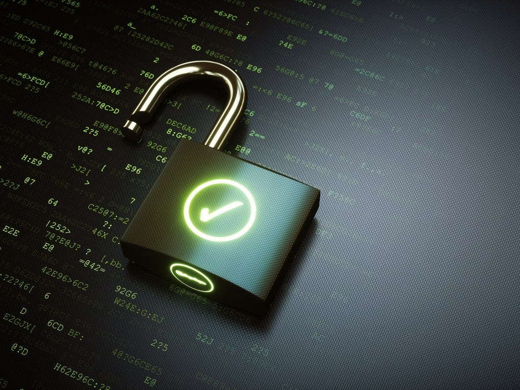 open-padlock-with-green-ok-checkmark-picture-id913014074