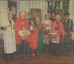 IN COSTUME: The horticulturalists at their Christmas panto party