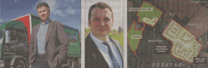 Haulier Daniel Salvatori has been working with developer Mark Quinn on the plans for homes on the site next to his depot
