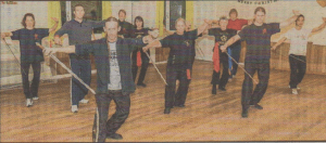 GOING DUTCH: Tai Sifu Mark Horton from the Netherlands with local Hong Ying lnstitute students