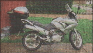STOLEN: The silver Honda XL 125 Varadero, worth £3,000