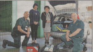 MAYOR'S VISIT: Lord mayor of Canterbury Heather Taylor and Lady Mayoress Linda Taylor at Canterbury Ambulance Station, with clinical services manager Andy Burton and clinical team leader David Latham