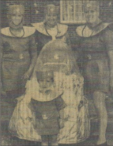 ALIENS: Carol on the right with her son Nicholas, front, and friends