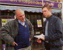 Ukip Party candidate Piers Wauchope is interviewed by Gazette reporter Aiden Barlow