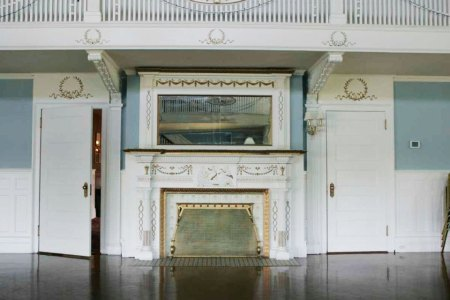Masury Estate Ballroom fireplace