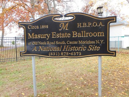 Masury Estate Ballroom sign