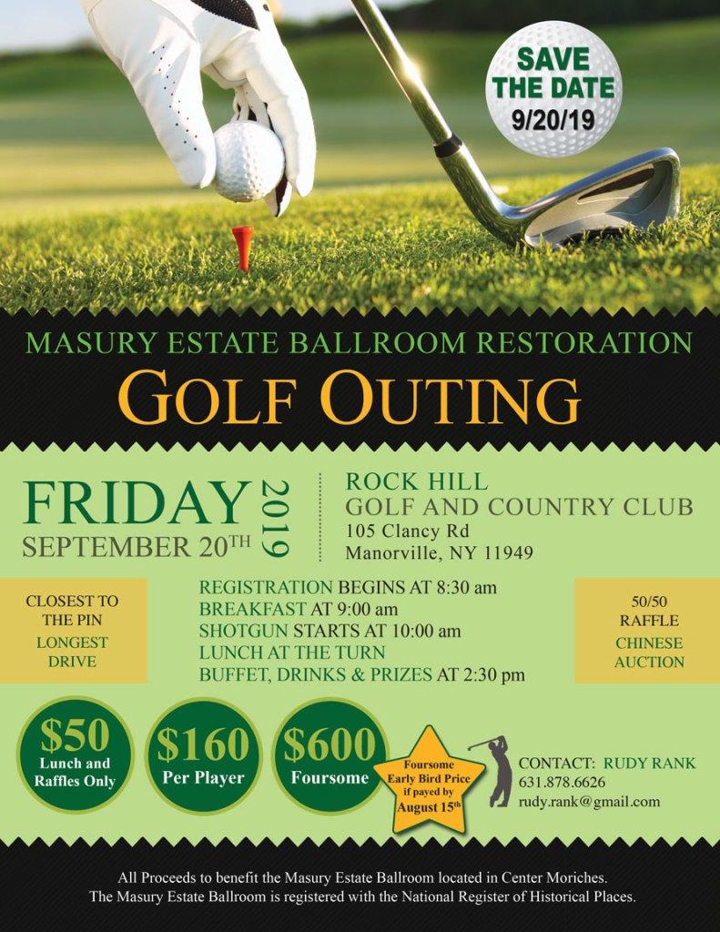 Masury Estate Ballroom Restoration Golf Outing