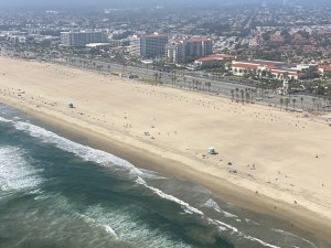 Picture of the Beach Crowd from a Helicopter