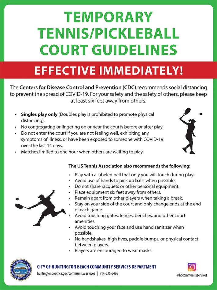 Tennis Pickleball Court Guidelines