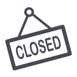 HBS Store Closed sign