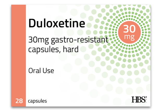 Duloxetine 30mg gastro-resistant capsules, hard