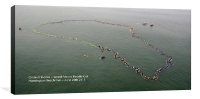 Circle of Honor ~ World Record Paddle Out ~ 06-20-17