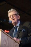 Edward Morehouse speaking at 70th Anniversary Celebration for HB Studio, provider of NYC acting classes