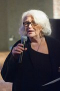 Donna De Matteo speaking at 70th Anniversary Celebration for HB Studio, provider of NYC acting classes