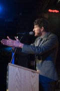 Man speaking at 70th Anniversary Celebration for HB Studio, provider of NYC acting classes