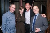 David Sharp (r.) and three additional guests at 70th Anniversary Celebration for HB Studio, provider of NYC acting classes