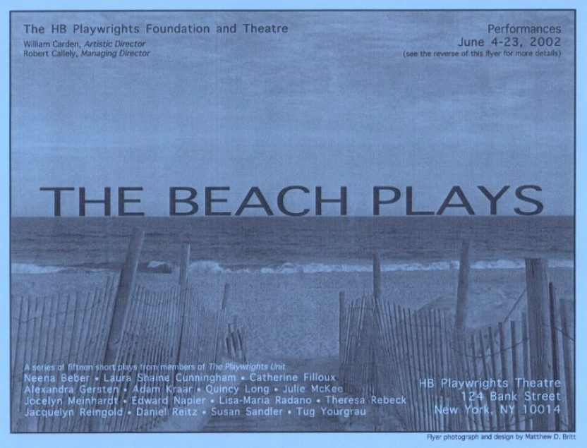The Beach Plays - Poster Flyer