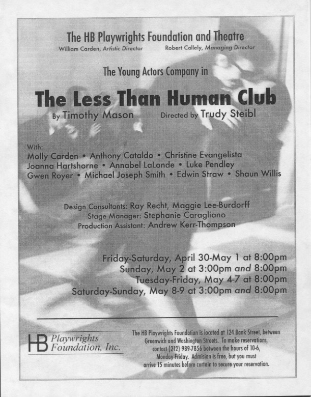 The Less Than Human Club - HB Studio