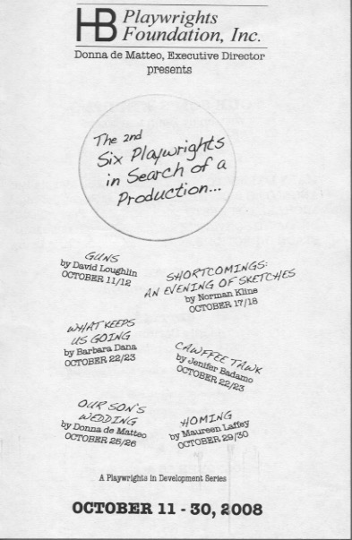 The 2nd Six Playwrights in Search of a Production - HB Studio