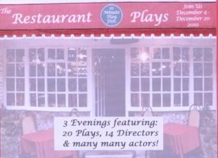 The Restaurant Plays - HB Studio