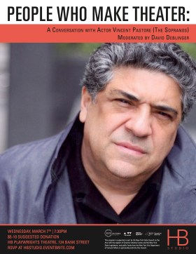 Public Talk with Vincent Pastore at HB Studio, NYC