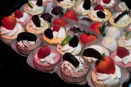 Desserts at HB Studio benefit event, supporting mission to provide affordable acting classes in NYC