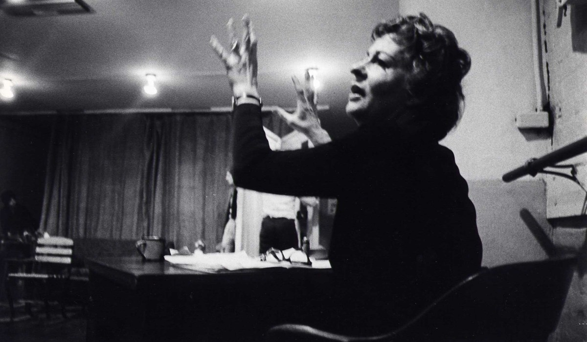 Uta Hagen teaching
