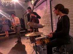 Band playing at HB Studio event to support mission to provide affordable acting classes in NYC