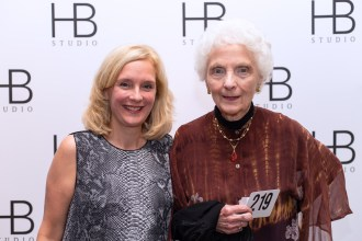 Two women attending HB Studio's Uta Hagen at 100 Gala