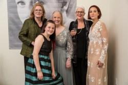 Thyra Teuscher, Letty Ferrer, and Teresa Teuscher with friends at the Uta Hagen at 100 Gala