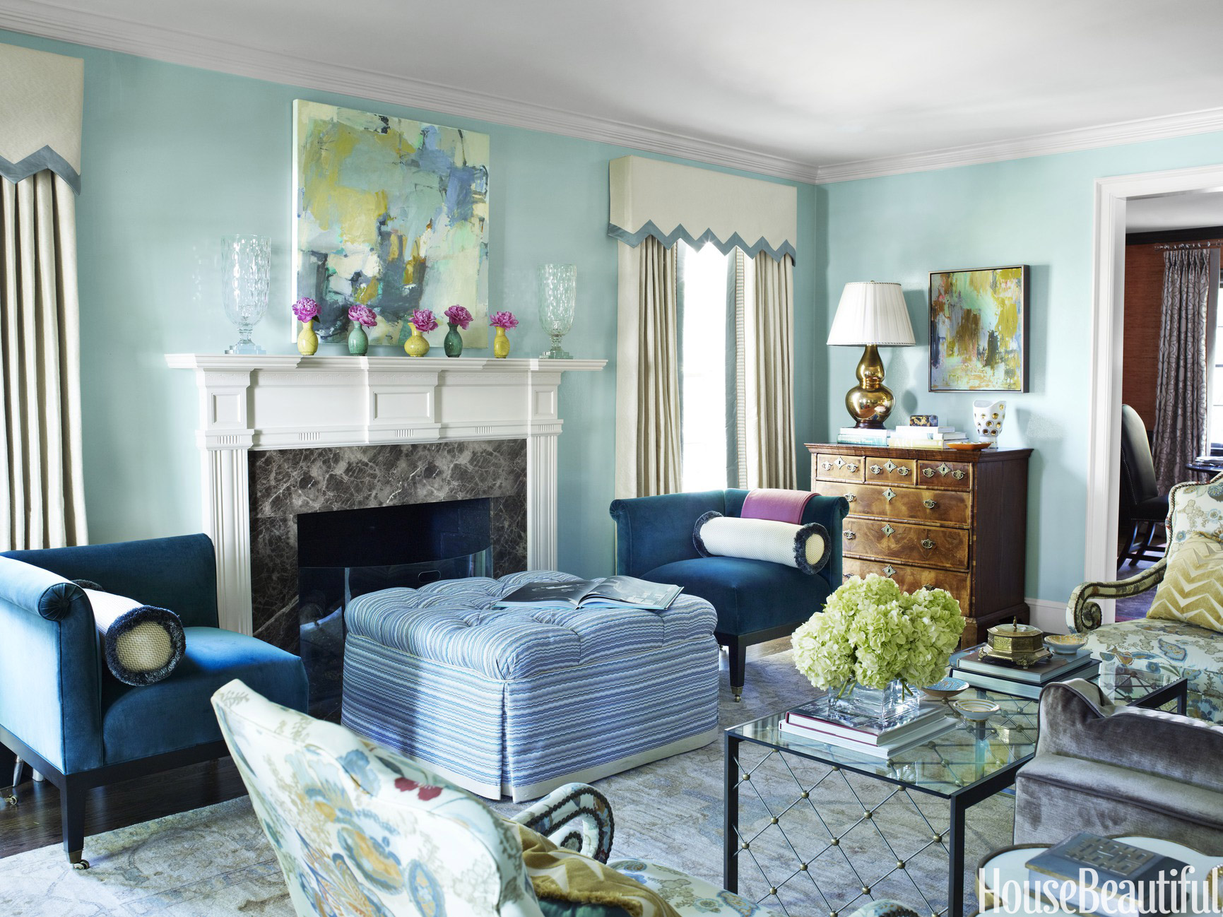 12 Best Living Room Color Ideas - Paint Colors for Living ... on Colourful Living Room  id=59813