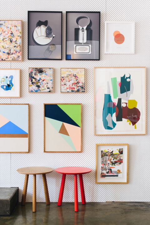 Want the look of a gallery wall without the permanence? Here's a brilliant idea from The Design Files: Use a pegboard to create a totally-customizable, easily-rearranged gallery wall.