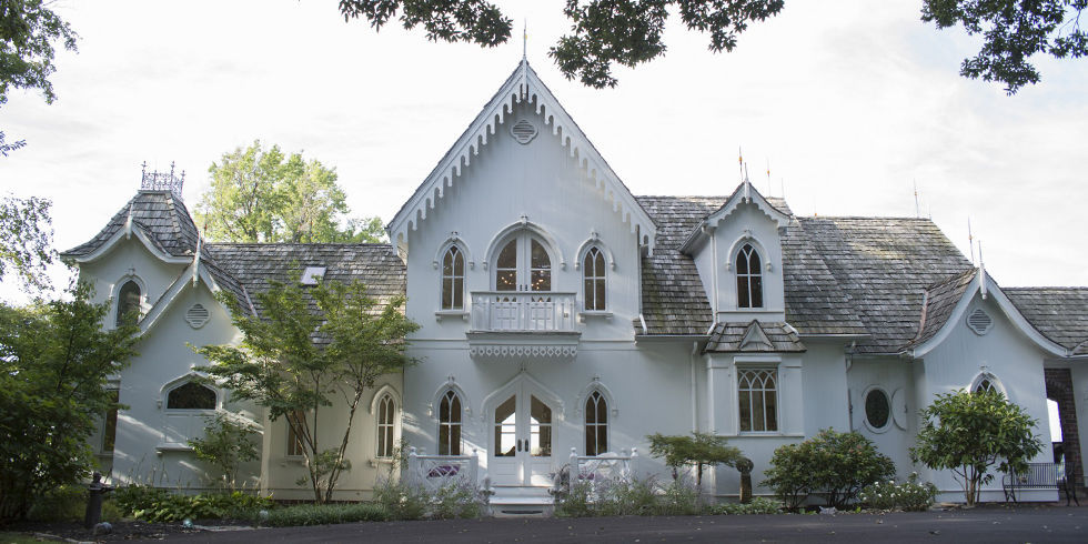 Gothic Revival White Home Tour American Gothic House Design