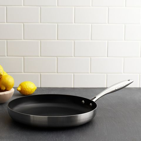 Fry Pans by Scanpan are broiler-proof up to 500°F, measuring from 8 to 12.75 inches.($90 and up, amazon.com)