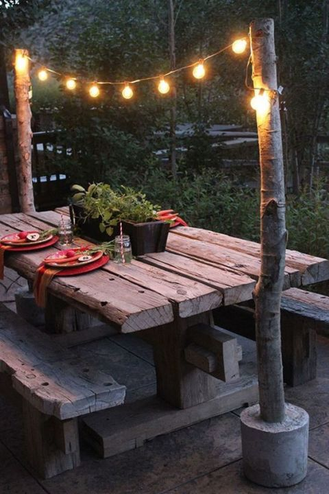 backyard string lights overhang