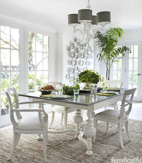 This Kansas City house's dining room, a former loggia, is