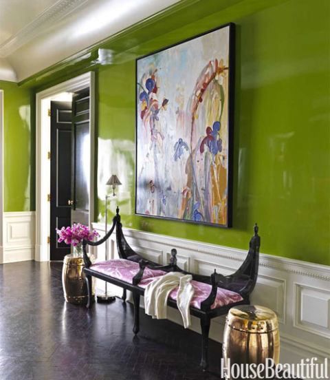 bold color entry