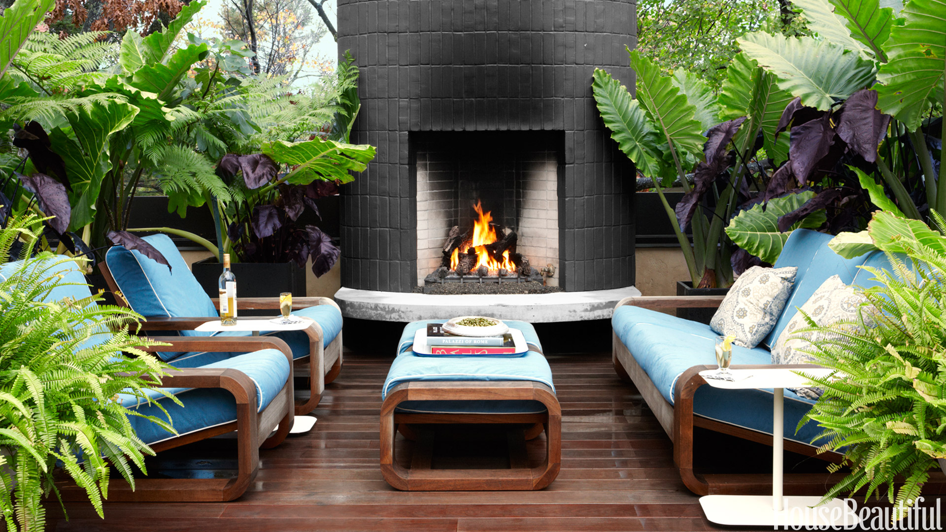 20 Outdoor Fireplaces That Will Keep You Warm All Night ... on Outdoor Fireplaces Ideas  id=89194